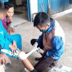 Penanganan korban KLL di Desa Kagok Kecamatan Slawi Kabupaten Tegal